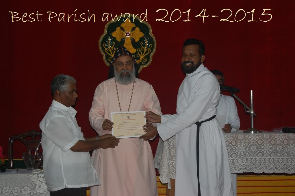 Best Parish Award 2014-2015