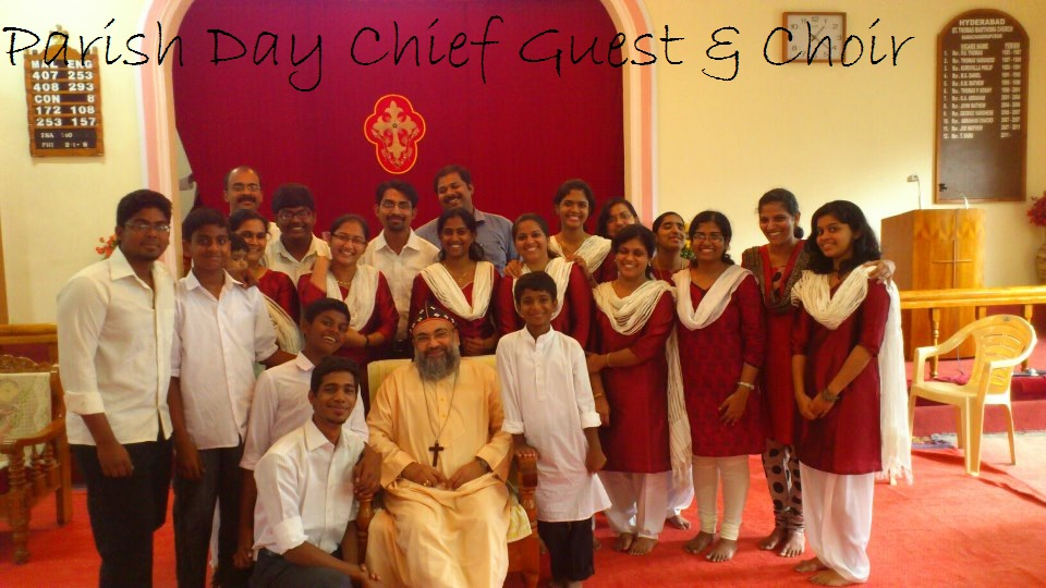 Parish Day Chief Guest with Choir members