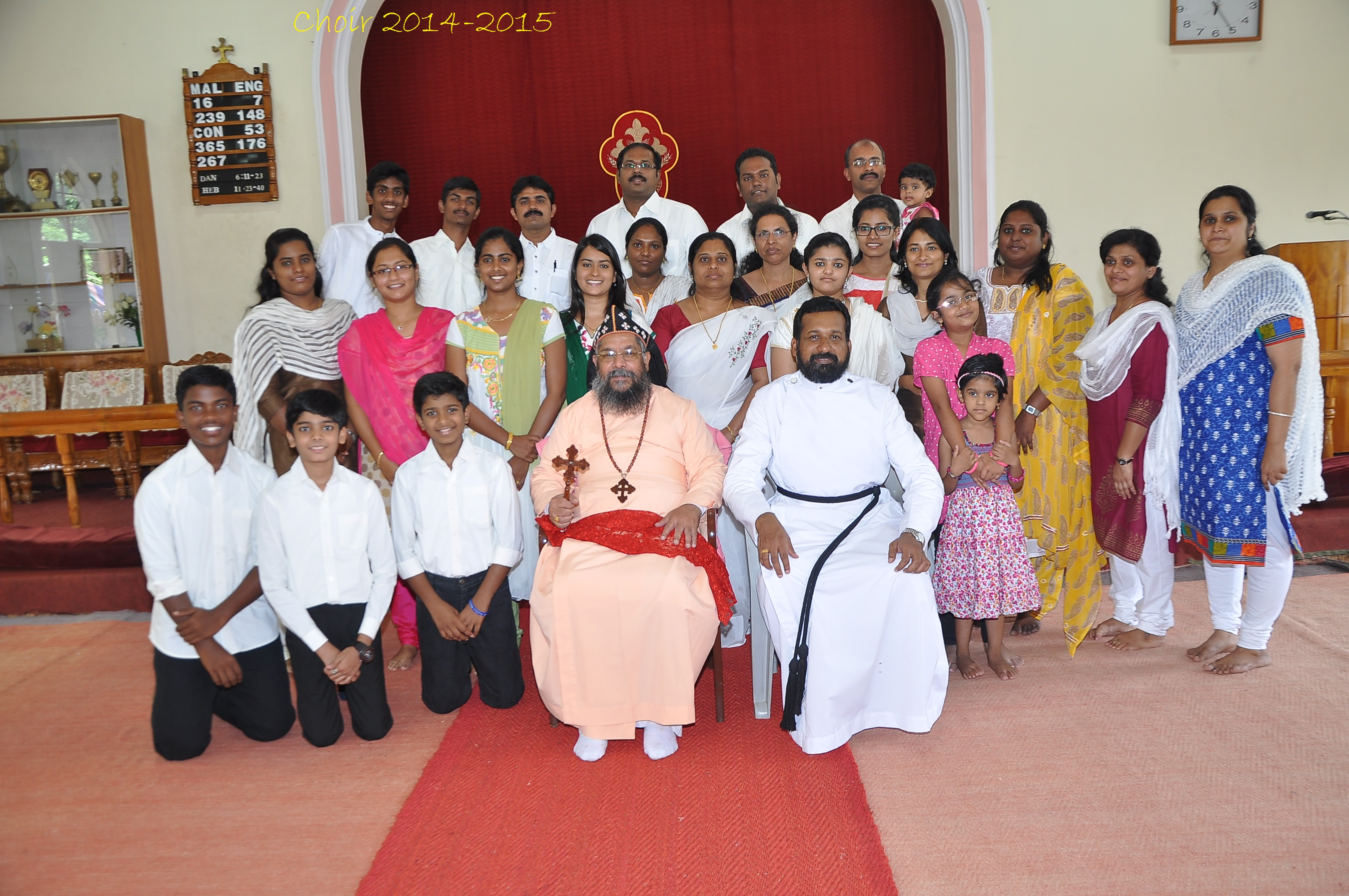 Thirumeni with Church Choir 2015