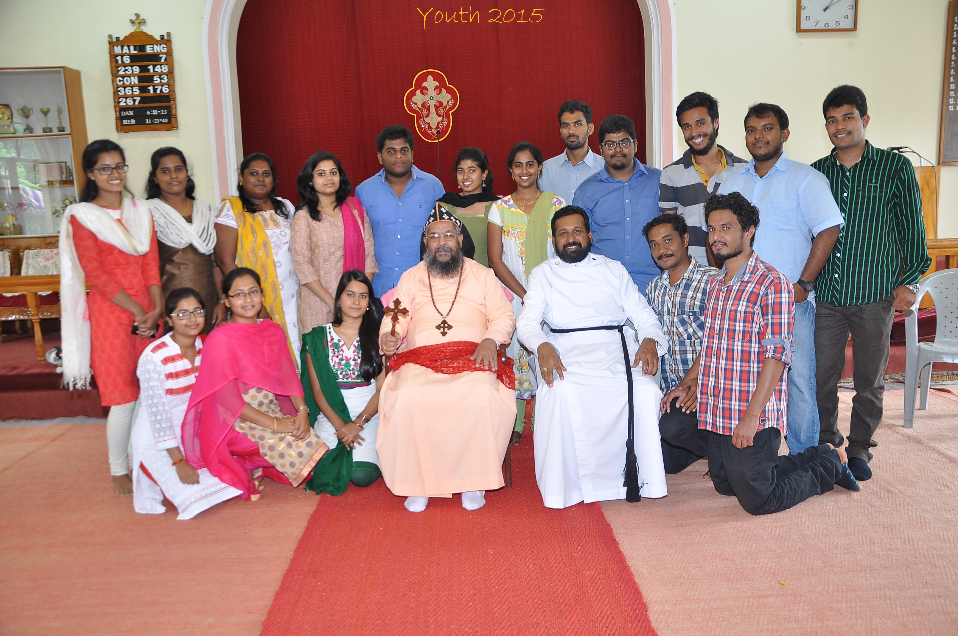 Thirumeni with Church Youth 2015